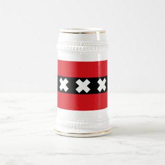 Chope À Bière Drapeau d'Amsterdam