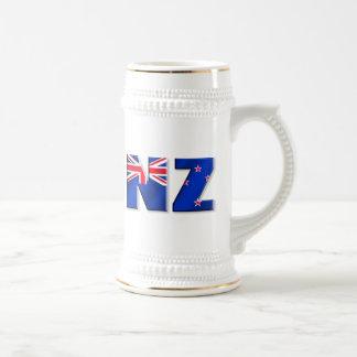 Chope À Bière Drapeau de logo de NZ de la Nouvelle Zélande