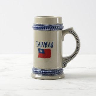 Chope À Bière Drapeau de Taïwan