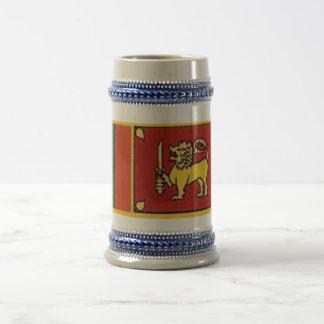 Chope À Bière Drapeau du Sri Lanka