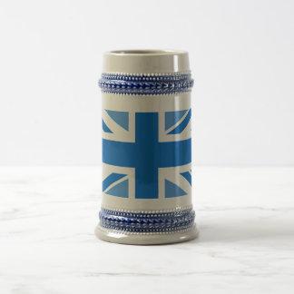 Chope À Bière Drapeau Editable d'Union Jack de couleur