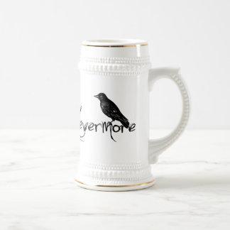 Chope À Bière Edgar Allen Poe Raven plus jamais Halloween