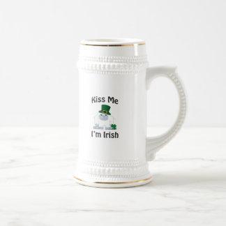 Chope À Bière Embrassez-moi que je suis yeti irlandais