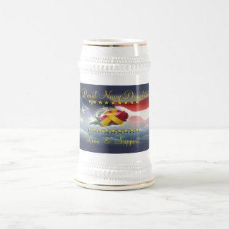 Chope À Bière Fille fière de marine