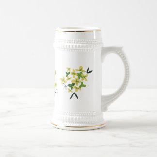 Chope À Bière Fleur - hortensia vert Stein