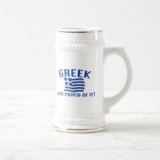 Chope À Bière Grec fier