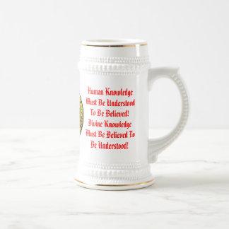 Chope À Bière La connaissance humaine et divine