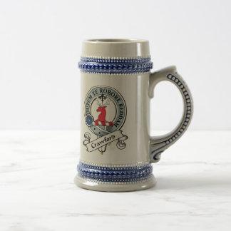 Chope À Bière Le clan de Crawford Badge