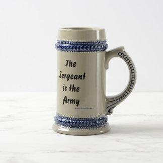 Chope À Bière Le sergent est l'armée, --Le Général Dwight D Ei…