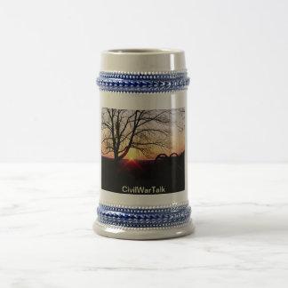 Chope À Bière Lever de soleil à Gettysburg Stein