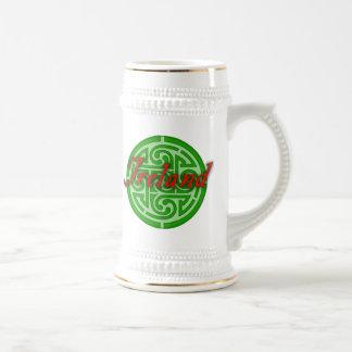 Chope À Bière L'Irlande Stein pour le Jour de la Saint Patrick
