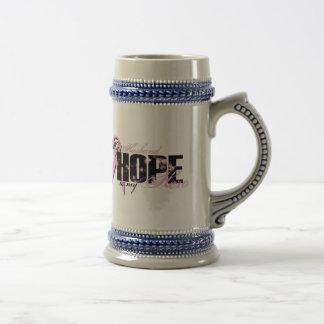 Chope À Bière Mari mon héros - espoir de cancer du sein