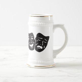 Chope À Bière Masques de théâtre de drame de tragédie de comédie