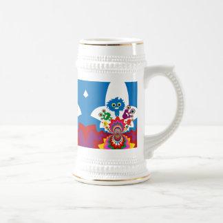 Chope À Bière Motif coloré de kaléidoscope de monstres