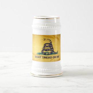 Chope À Bière Ne marchez pas sur moi la bière Stein de drapeau