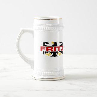 Chope À Bière Nom de famille de Fritz