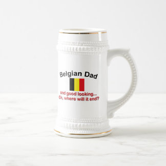 Chope À Bière Papa belge beau