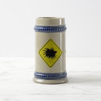 Chope À Bière Poissons de combat siamois d'amour de panneau