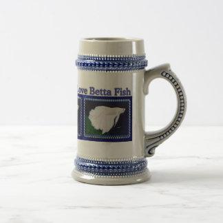 Chope À Bière Poissons Stein de Betta