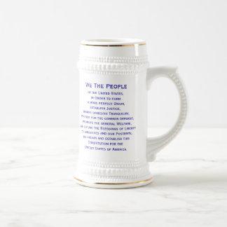 Chope À Bière Préambule de la bière Stein de constitution par
