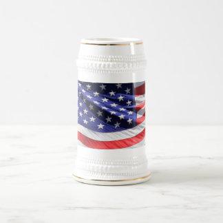 Chope À Bière Stein américain de drapeau des USA de bannière