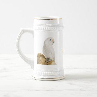 Chope À Bière Stein de photo de perroquet blanc de cacatoès