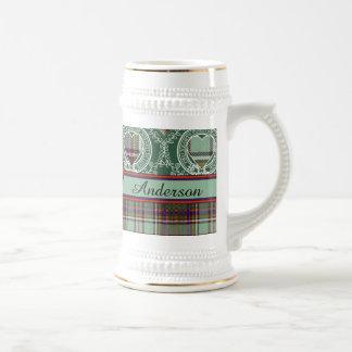 Chope À Bière Tartan d'écossais de plaid de clan d'Anderson