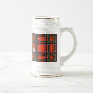 Chope À Bière Tartan d'écossais de plaid de clan de Stewart