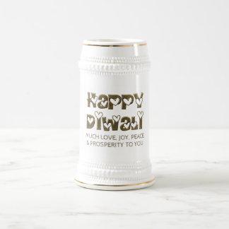 Chope À Bière Typographie mignonne de salutation heureuse Stein