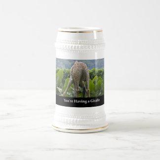 Chope À Bière Your'e ayant une girafe