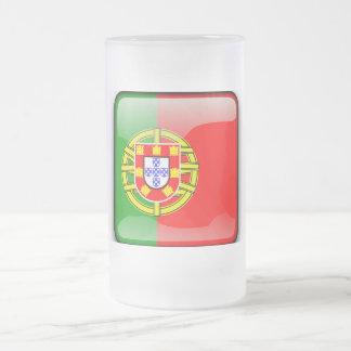 Chope Givrée Drapeau brillant du Portugal