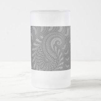 Chope Givrée Graphique en spirale monochrome