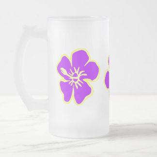 Chope Givrée Hawaïen tropical Luau de fleurs de ketmie pourpre