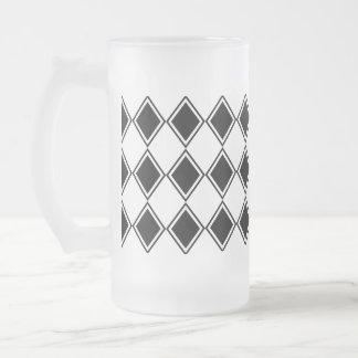 Chope Givrée motif noir et blanc de diamant de harlequin