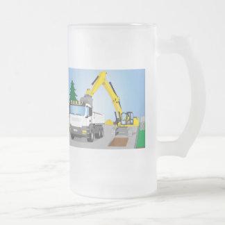 Chope Givrée Straßenbaustelle avec le camion blanc et