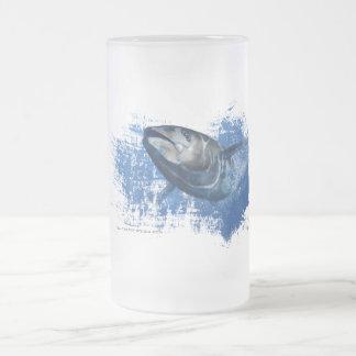 Chope Givrée Verre de bière givré par thon bleu d'aileron