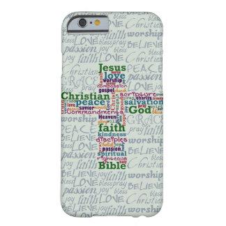 Christelijk Godsdienstig Word Art Cross Barely There iPhone 6 Hoesje