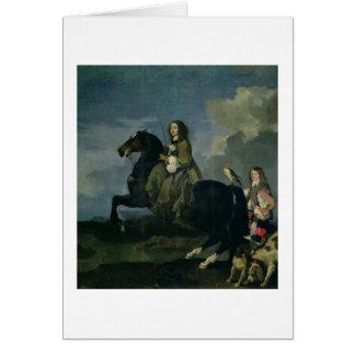 Christina de la Suède 1626-89 à cheval 1653 Cartes