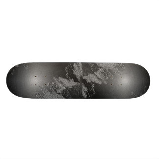 Christmas Poinsettia Black And Grey II Skate Deck