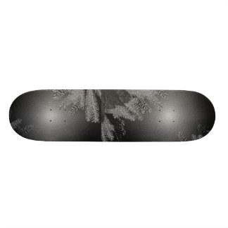 Christmas Poinsettia Black And Grey Skate Board Deck