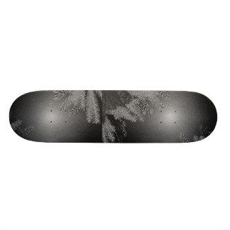 Christmas Poinsettia Black And Grey Skate Board Deck