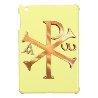 Christogram d'or coques pour iPad mini