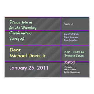 Chrome de luxe de satin avec le texte témoin carton d'invitation  12,7 cm x 17,78 cm