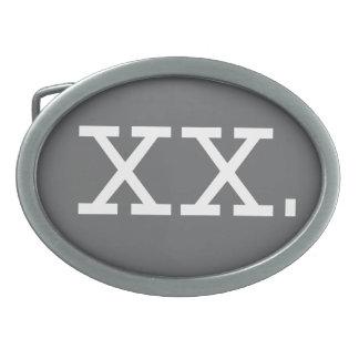 Chromosome - XX, bouclent l'ovale Boucles De Ceinture Ovales