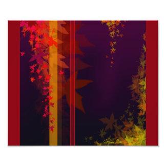 Chute. Le feuille brillamment coloré d'automne Impression Photo