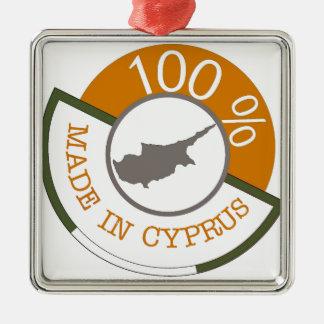 Chypriote de 100% ! ornement carré argenté