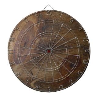Cible De Fléchettes Arrière - plan en bois rustique inextricable de re