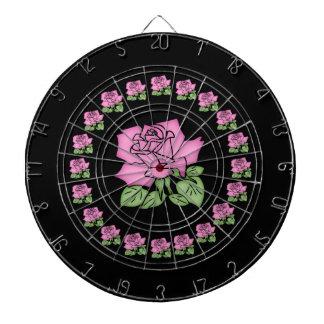 Cible De Fléchettes Beau dard de rose de rose Panneau-Personnalisable
