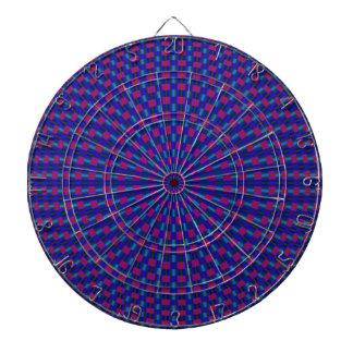 Cible De Fléchettes Cercles géométriques bleus et rouges