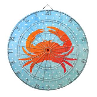 Cible De Fléchettes Crabe-Polka-point-Dard-Panneau-Été Blues_Unisex